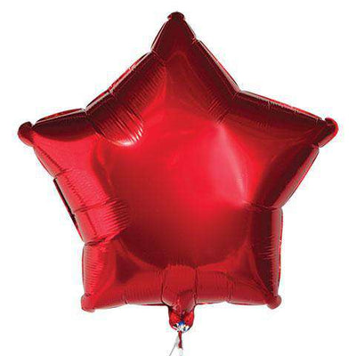 Red Star Mylar Balloons, 18