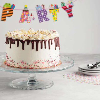 Birthday Drip Layer Cake - CupcakeDropoff .com