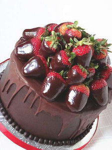 Chocolate Covered Strawberry Cake - CupcakeDropoff .com