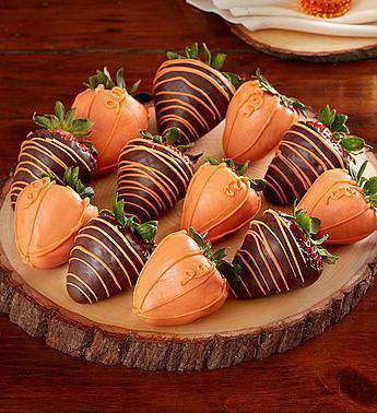 Choc. Strawberries - Pumpkin Patch Dipped Strawberries