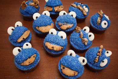 Cupcakes - Blue Monster Cookie Cupcake (12)