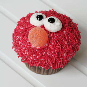 Red Monster Cupcake (12) - CupcakeDropoff .com