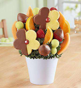 Fruit Bouquets - Delightful Daisy Treat With Chocoate