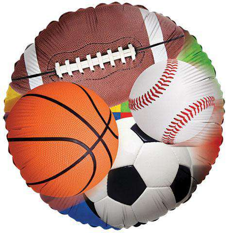 All-Sports Foil Balloons, 18 in. (sku 105) - CupcakeDropoff .com