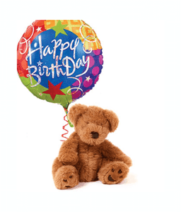 Occasions - Birthday Balloon And Teddy Bear