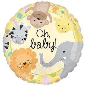 "Child Safari Mylar Balloons, 18"" (sku 112) - CupcakeDropoff .com"