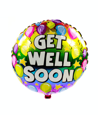 Get Well Balloon - CupcakeDropoff .com