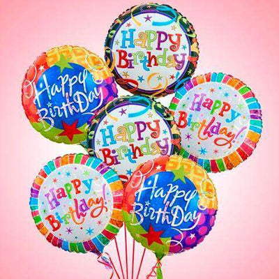 Occasions - Half Dozen Birthday Balloon Bouquet