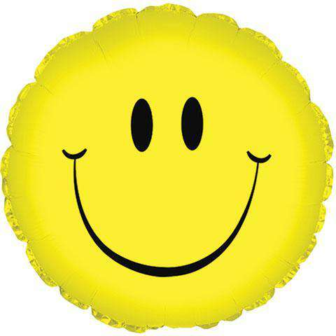 Smiley Face Mylar Balloons, 18