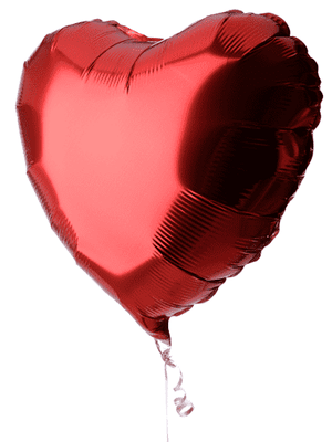 Single Valentines Day Balloon - CupcakeDropoff .com