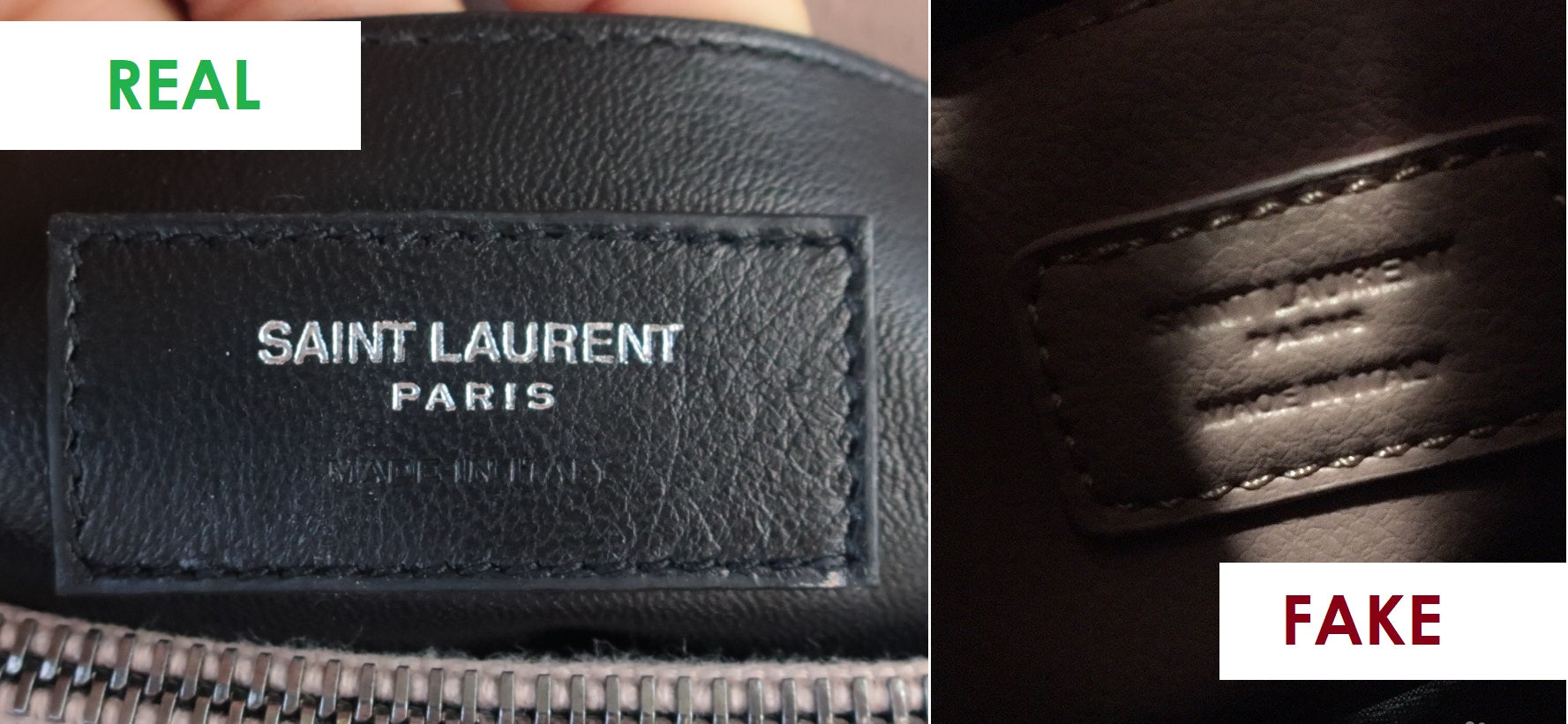 how to spot a fake ysl college bag