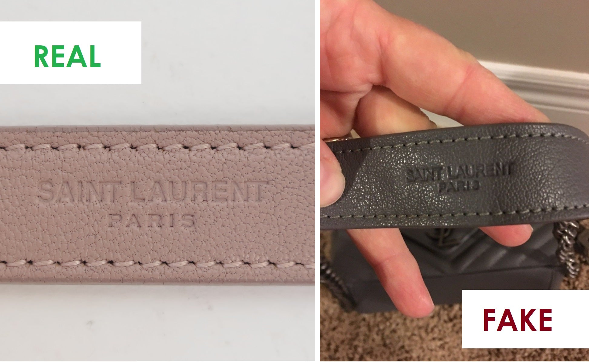 ysl college real or fake how to spot a fake