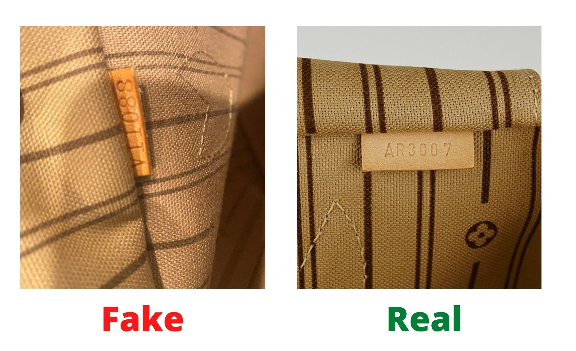 Fake Louis Vuitton Neverfull vs Real: Important Details You Should Definitely Pay Attention To (With Photo Examples) Neverfull Monogram real vs fake date code