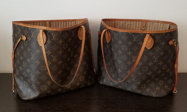 louis vuitton neverfull fake real spot lv