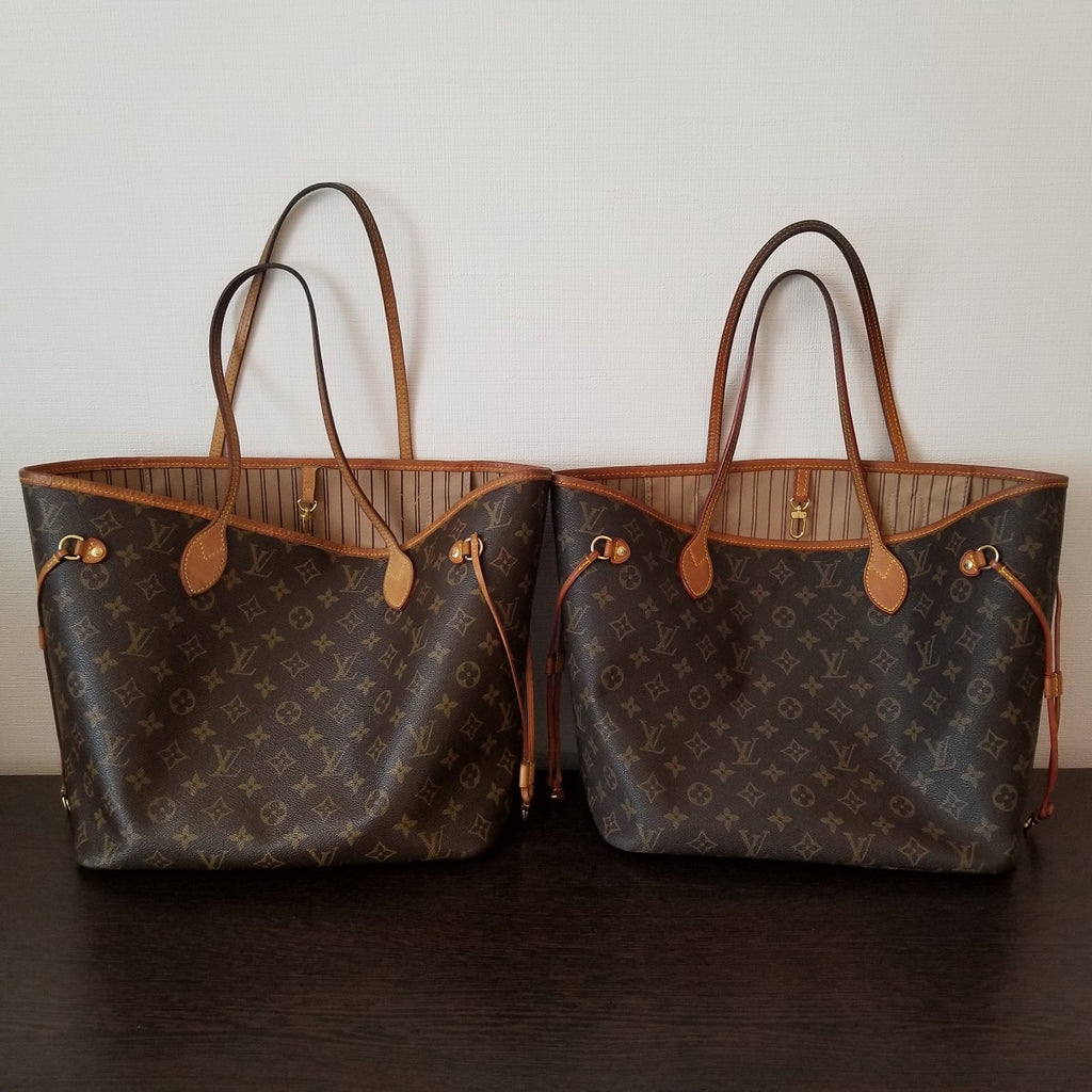 louis vuitton lv neverfull fake real