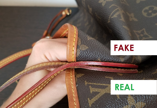 louis vuitton lv how to spot a fake neverfull mm authentic replica