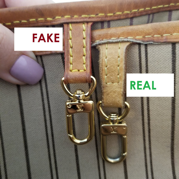 HOW TO SPOT A LOUIS VUITTON LV FAKE REAL AUTHENTIC
