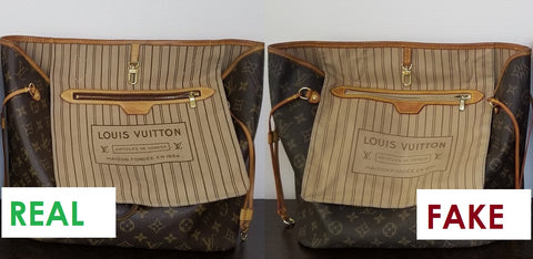 louis vuitton how to spot a fake neverfull authentic replica real
