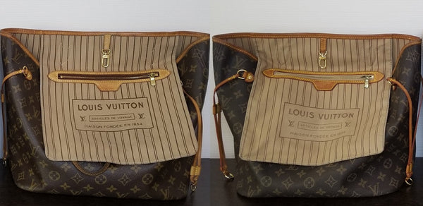 louis vuitton lv neverfull mm fake real authentic replica