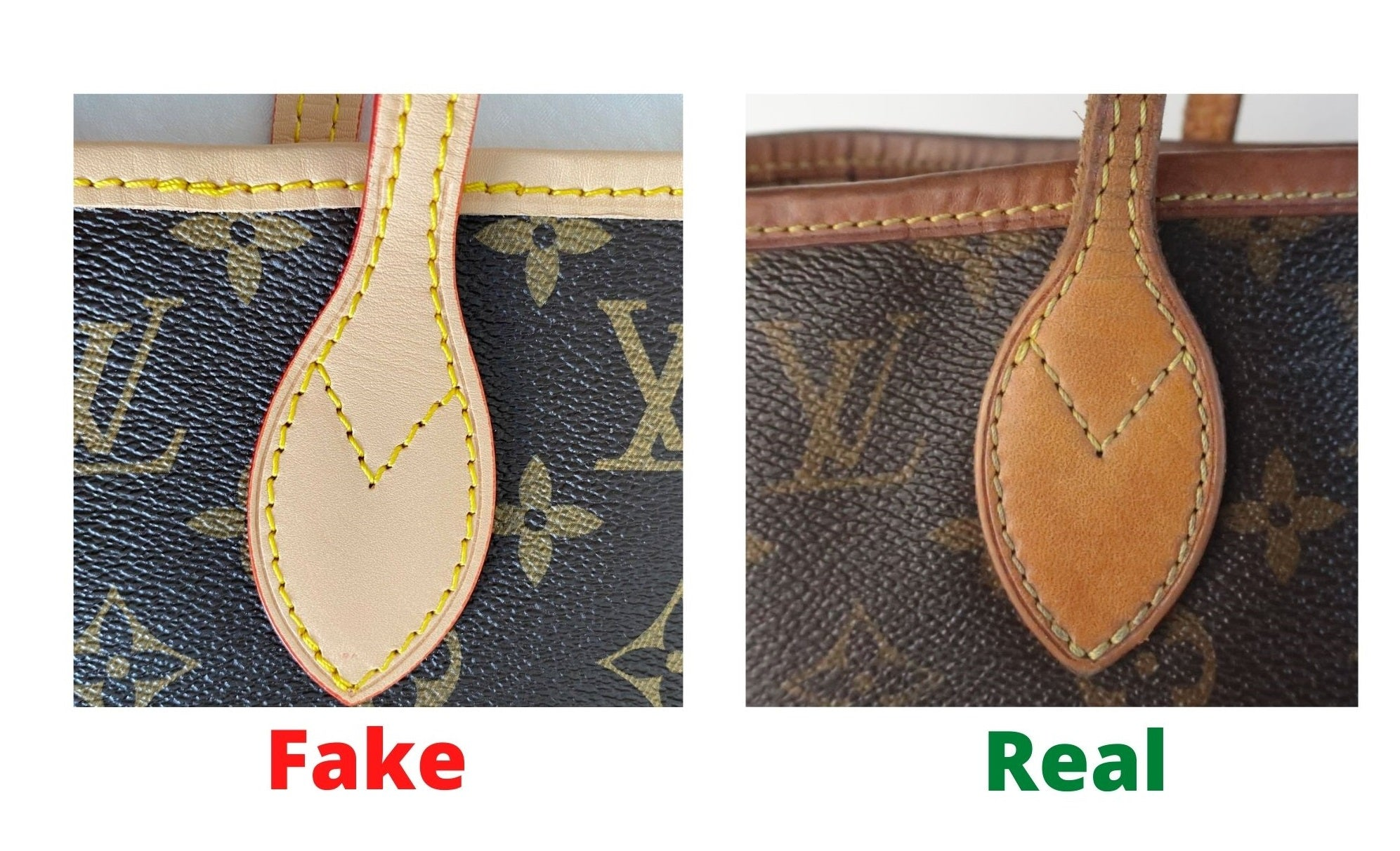 Fake Louis Vuitton Neverfull vs Real: Important Details You Should Definitely Pay Attention To (With Photo Examples) Neverfull Monogram strap