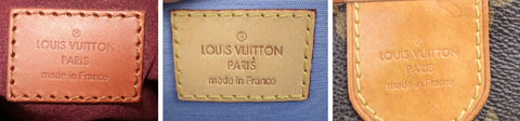 louis vuitton bags made in france spain authentic heatstamps