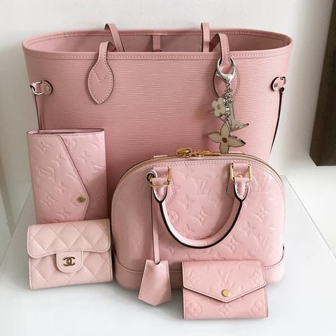 louis vuitton neverfull rose ballerine pink