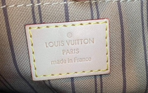 Fake Louis Vuitton Neverfull vs Real: Important Details You Should Definitely Pay Attention To (With Photo Examples) Neverfull pouch heat stamp