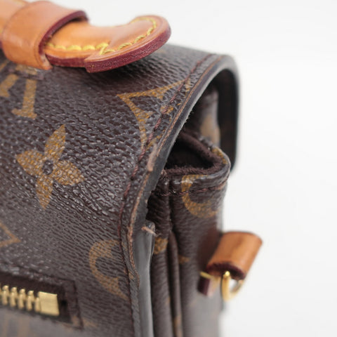 louis vuitton monogram pochette metis glazing off