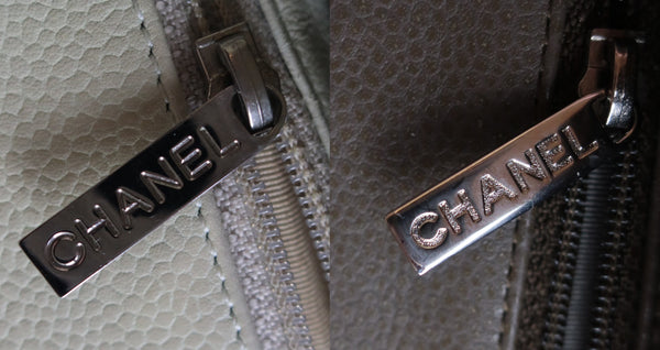 chanel hardware zipper authenticate real fake
