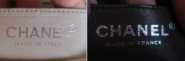 chanel mini hecho en sello real falso