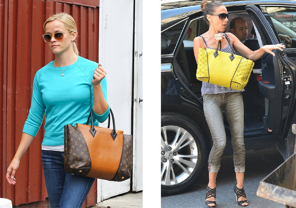 reese witherspoon sarah jessica parker w tote louis vuitton lv bag