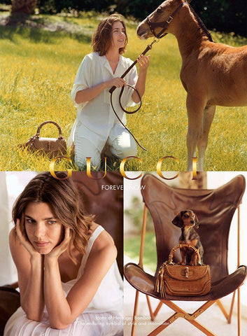 Charlotte Casiraghi fronts 2013 Gucci campaign bamboo bag