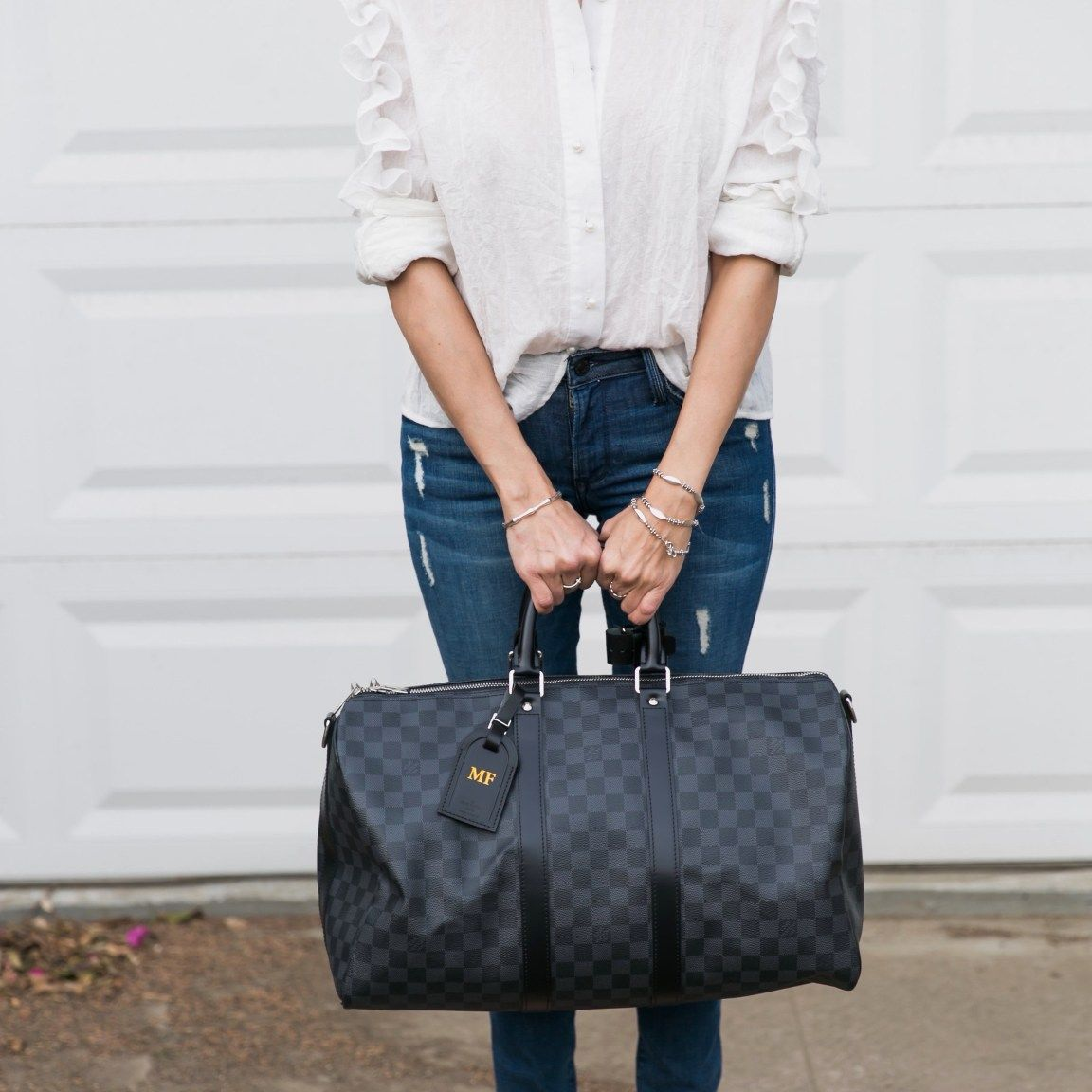 What Size Louis Vuitton Keepall Should I get? Keepall Damier Graphite