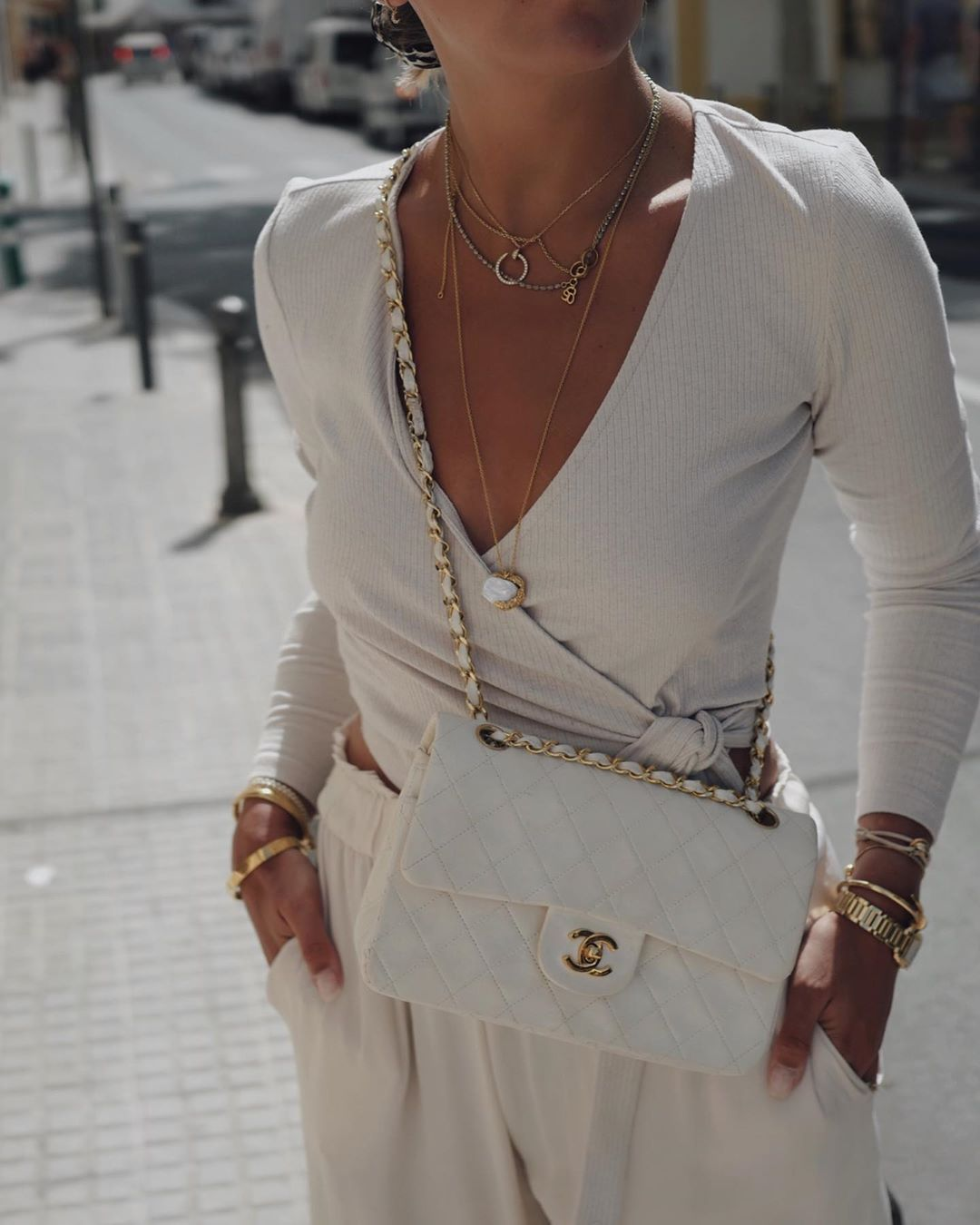 How To Clean Your White Luxury Handbag and Make Sure It Stays White White Chanel Flap Bag