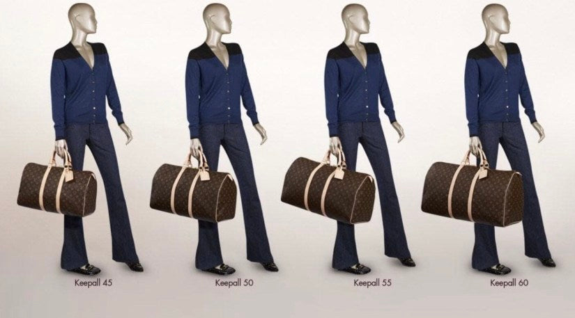 What Size Louis Vuitton Keepall Should I get? Keepall sizes