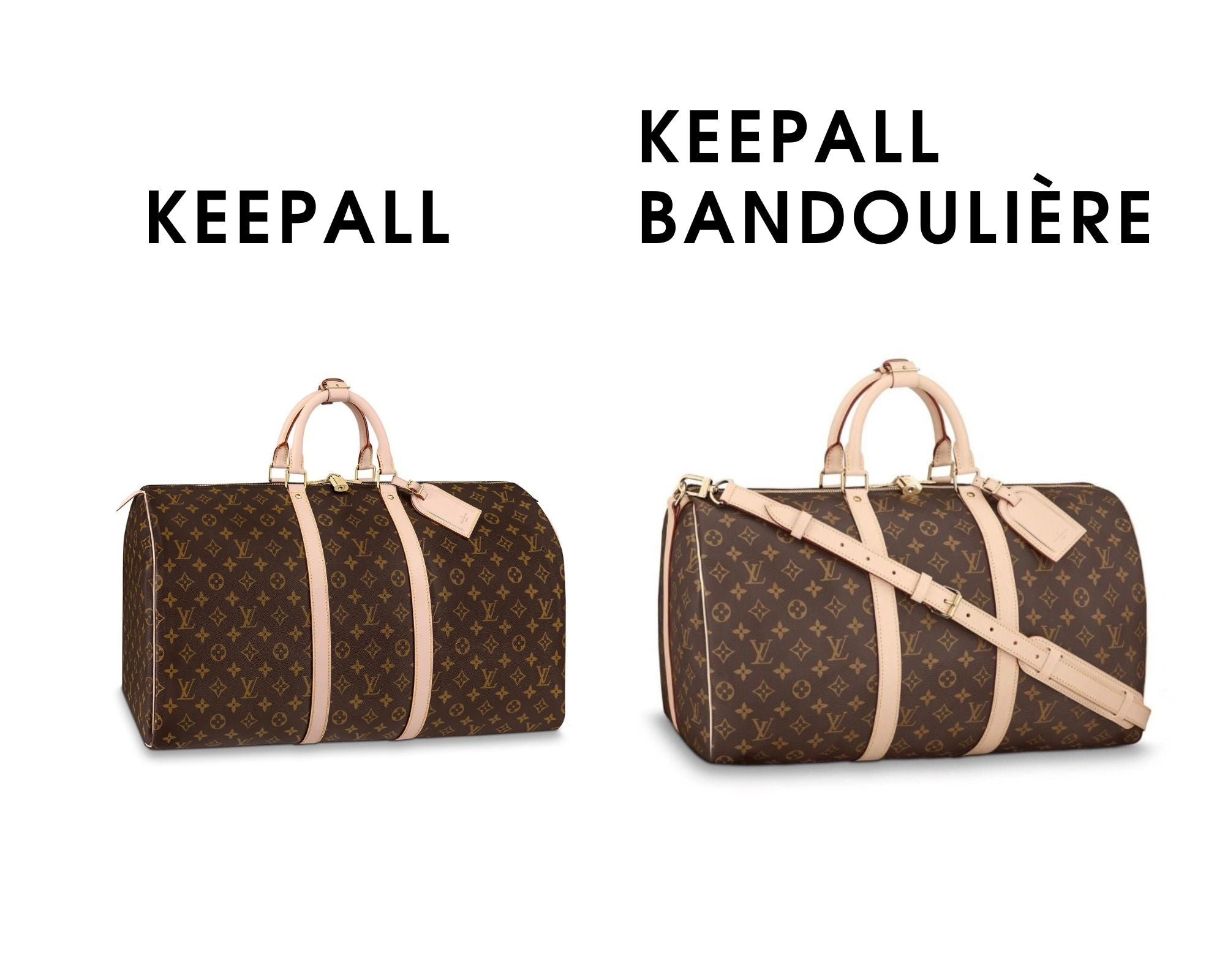 What Size Louis Vuitton Keepall Should I get? Keepall vs Keepall badouliere