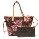 louis vuitton jungle dot neverfull mm red dots palm