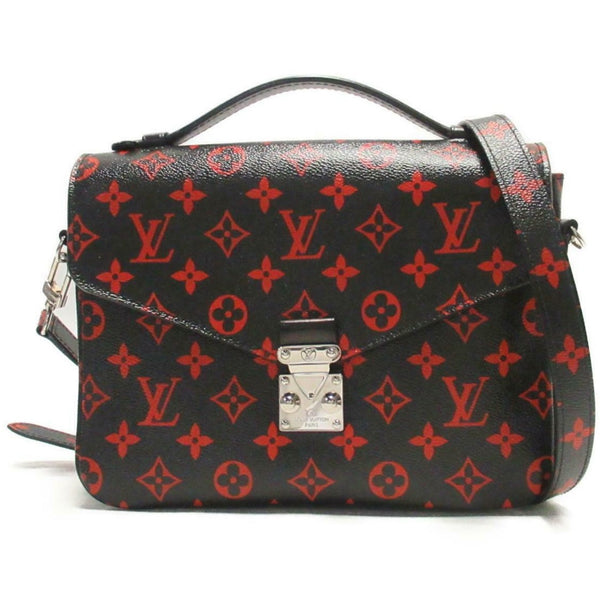 louis vuitton pochette metis infrarouge black and red limited edition