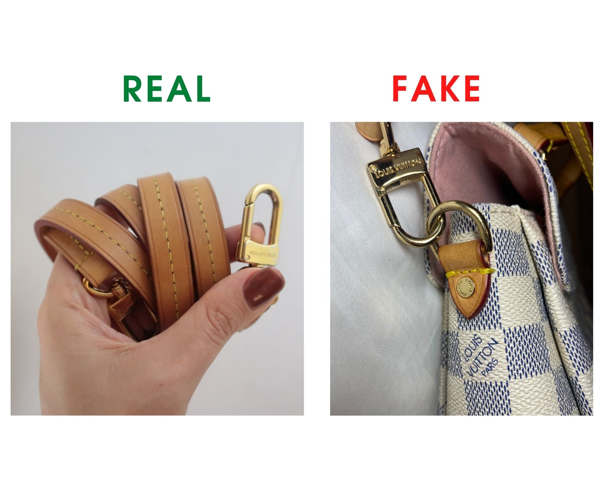 Louis Vuitton Croisette Bag Review and Real vs Fake Comparison (With Real Photos) shoulder strap buckle