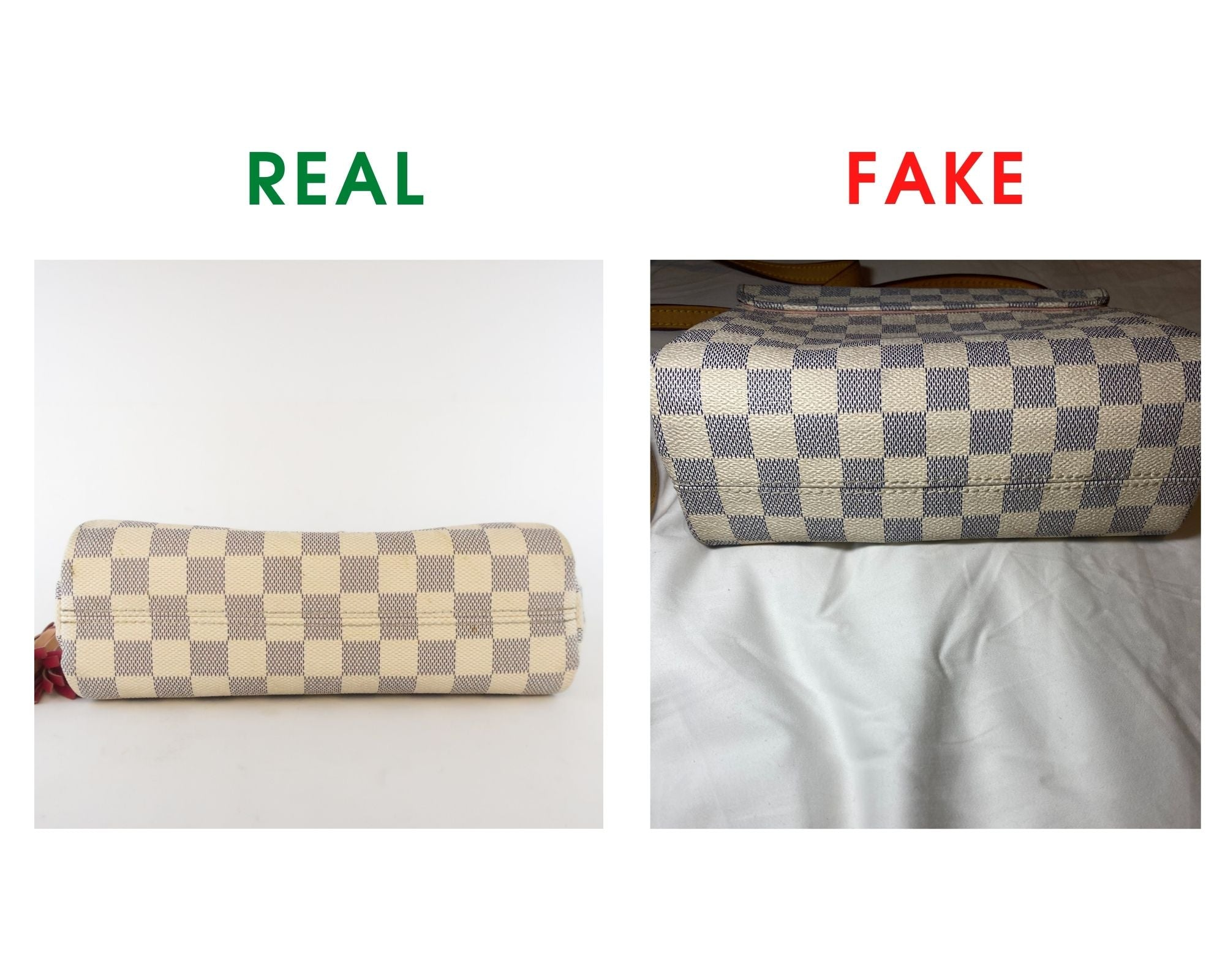 Louis Vuitton Croisette Bag Review and Real vs Fake Comparison (With Real Photos) bottom pattern