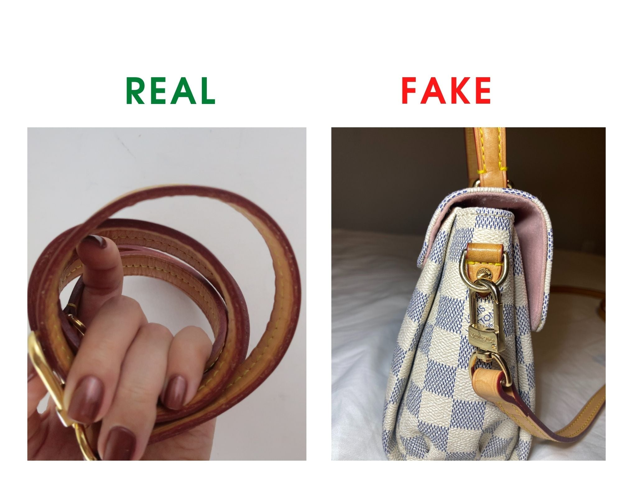 Louis Vuitton Croisette Bag Review and Real vs Fake Comparison (With Real Photos) Shoulder strap