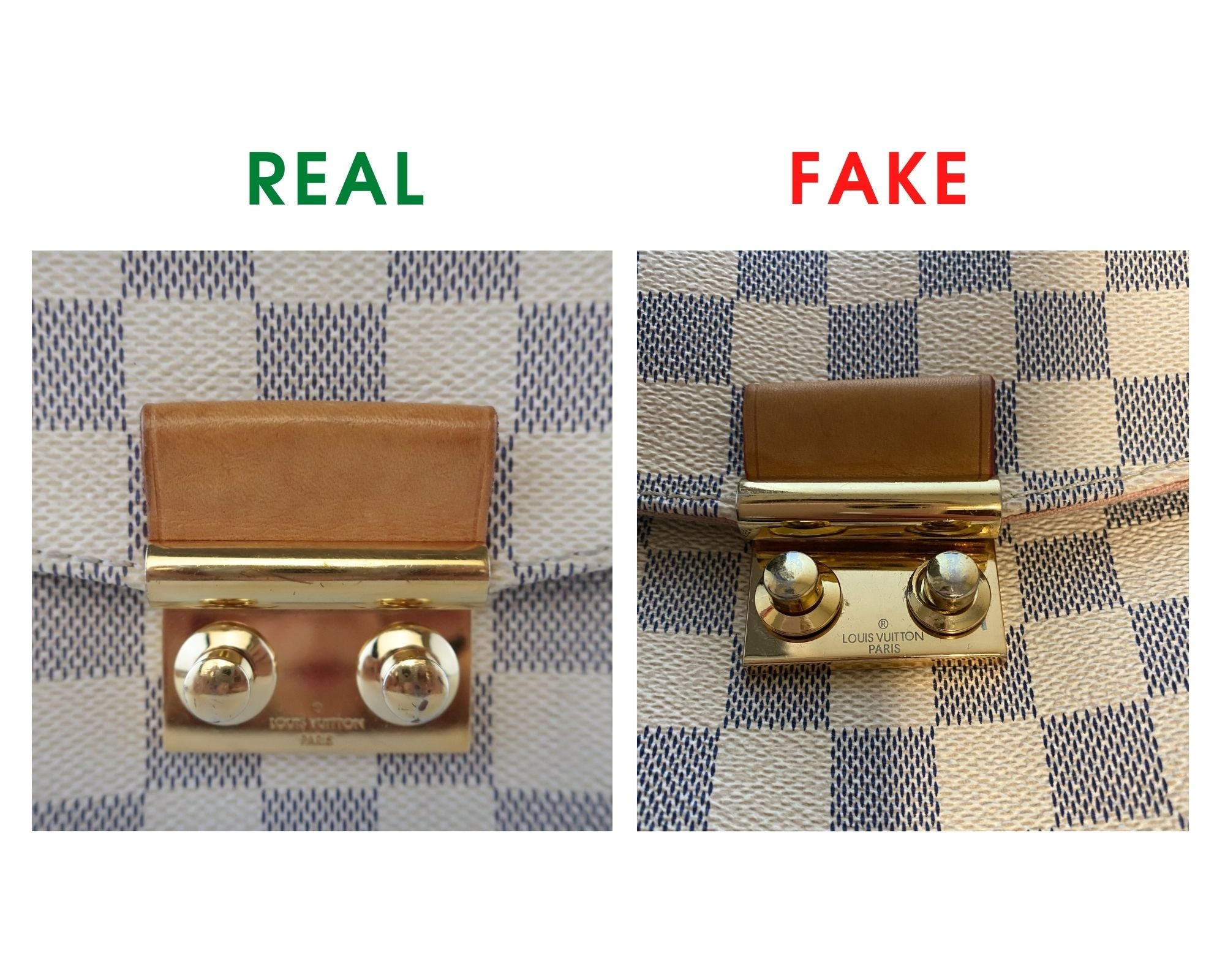 Louis Vuitton Croisette Bag Review and Real vs Fake Comparison (With Real Photos) lock