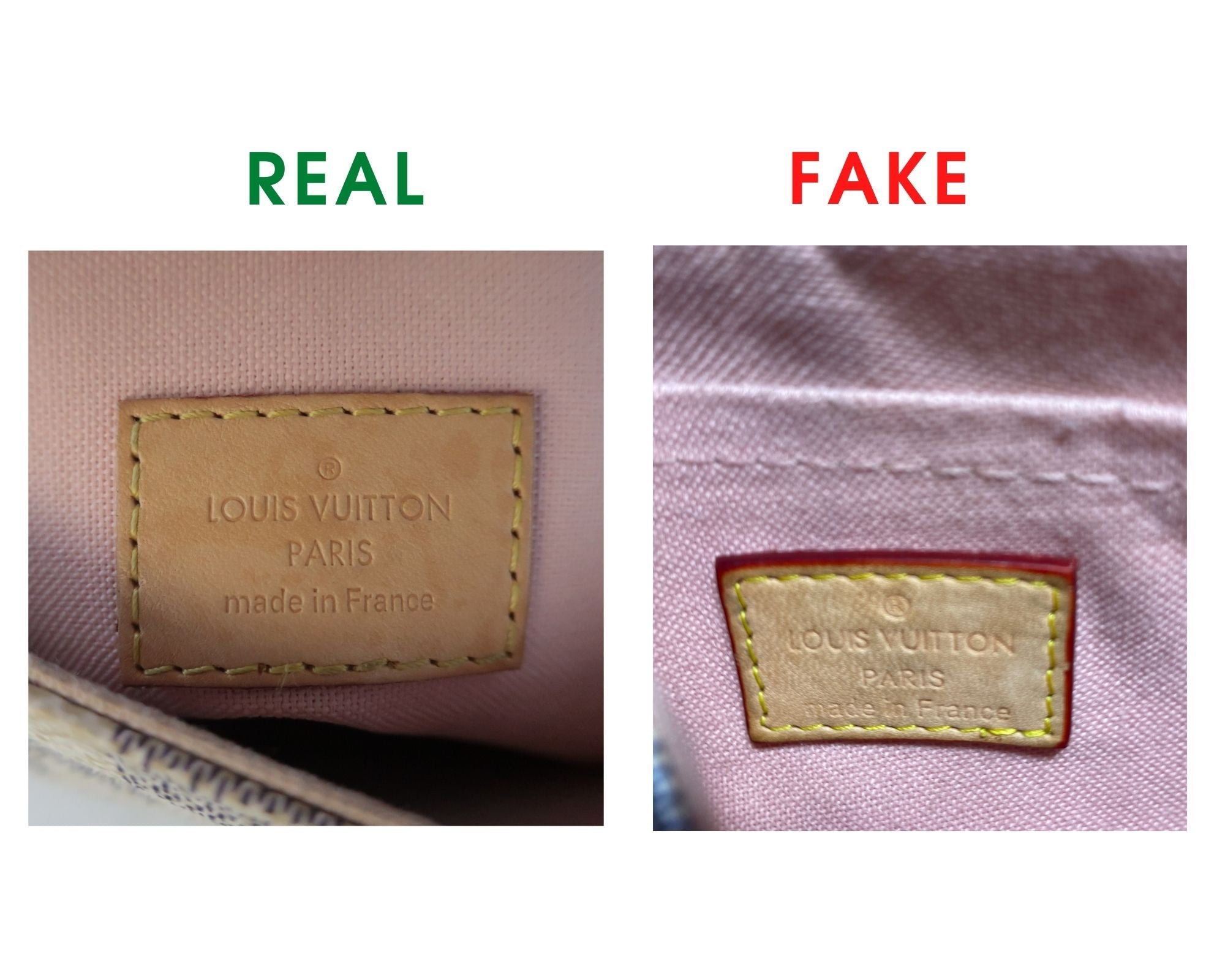 Louis Vuitton Croisette Bag Review and Real vs Fake Comparison (With Real Photos) heat stamp