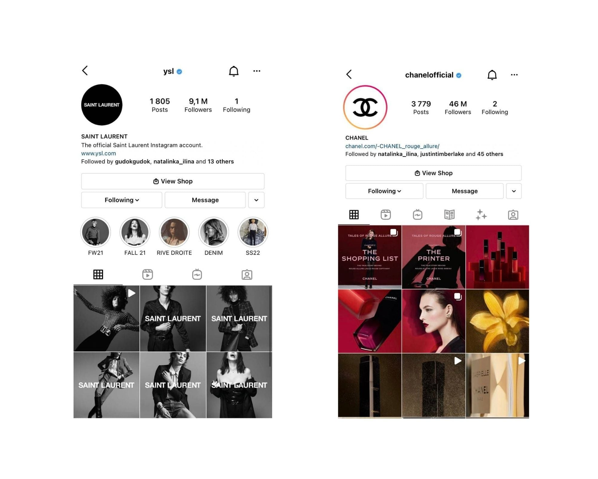 Which Brand is Better: YSL vs Chanel social media