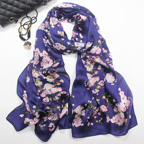 100% Real Silk Women Scarfs - Liked Buy