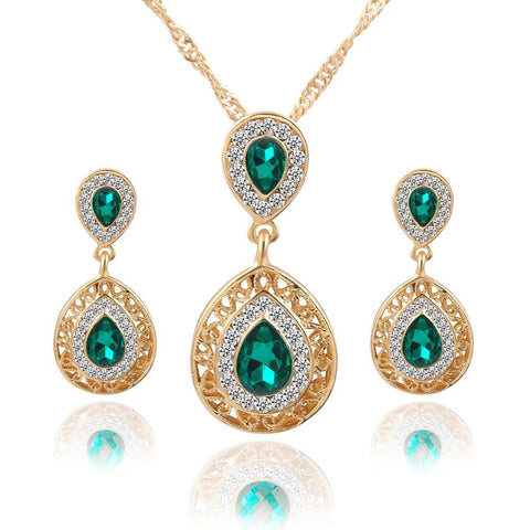 Water Drop Pendant Jewelry Sets