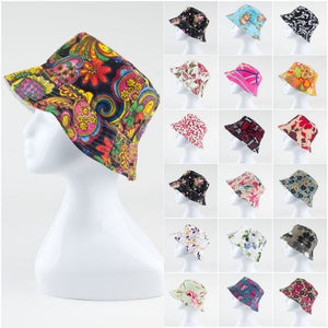 Floral Flat Ladies Sun Hat