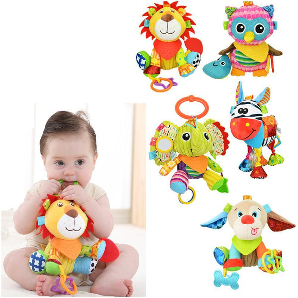 Bed Rattles Hanging Animal Plush Toys - Liked Buy