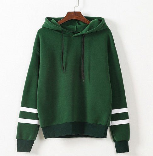 Casual Long Sleeve Hooded Pullover - Liked Buy