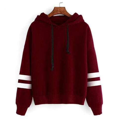 Casual Long Sleeve Hooded Pullover